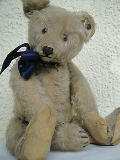 EXPRESSIVE ANTIQUE STEIFF TEDDY BEAR 1915 MOHAIR HUNCHBACK BEAR - SO CUTE