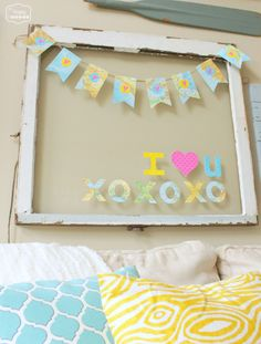 Easy Map Heart Bunting PLUS 14 Super Amazing V-Day Projects {$140 Target Card giveaway!} | The Happy Housie