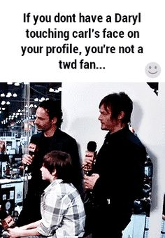 "He loves to bug the kid.... Imagine what he does to his own son! --Not a TWD fan, but I love this GIF. Too funny.<------- what a horrible thing to say....""not a TWD fan""....pffft you don't know what your missing"