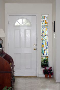I would looooooove to do something like this with the windows beside the front door.