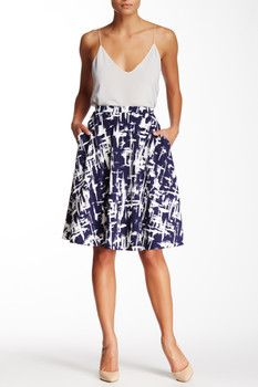 Bobeau A-Line Knee Length Skirt