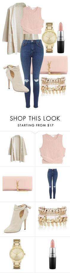 """""""all of these doubts get left in the dust"""" by cutiepiemandiii ❤ liked on Polyvore featuring Jonathan Simkhai, Yves Saint Laurent, Jimmy Choo, River Island, Kate Spade, MAC Cosmetics, women's clothing, women, female and woman"""