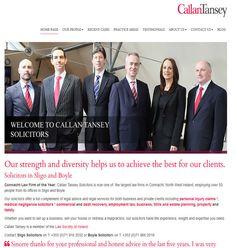 ie web design in Sligo launch new legal website for Callan Tansey Solicitors in Sligo and Boyle.