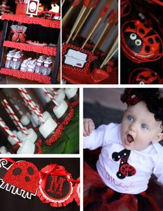 "Photo 1 of 11: Ladybugs / Birthday ""Our lil' baby is turning into a lil' lady- ladybug themed 1st birthday party"" 