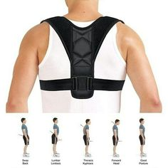 Back Posture Corrector Clavicle Support Brace for Women & Men by Potou, Figure 8 Shaped Designed for Your Upper Back, Helps to Improve Posture, Prevent Slouching and Upper Back Pain Relief (REG ( - )) Posture Correction Belt, Posture Correction Exercises, Posture Stretches, Back Brace For Posture, Good Posture, Improve Posture, Braces Bands, Posture Collar, Shoulder Brace