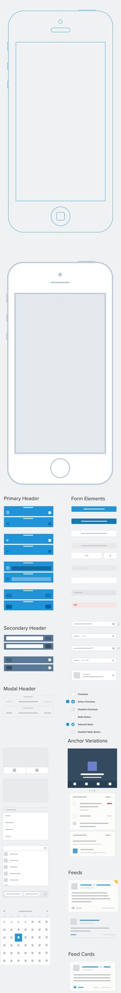 LOVES DATA LOVES ||  Mobile Sketch Wireframe Kit for Prototyping