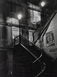 BRASSAÏ :: Staircase in the Rue Rollin, 1934  [Paris de Nuit]