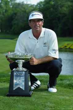 By Jeff Gross Getty Images Sport Getty Images  HUMBLE, TX - APRIL 27: Fred Couples poses with the trophy after winning the Shell Houston Open on April 27, 2003 at the Redstone Golf Club in Humble, Texas.