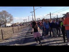 Fan Run: Random Clip- Lindsey Stirling... I WAS THERE!!!! haha :) Front of the line, brunette, screaming! haha :)