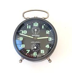 Vintage Wehrle alarm clock Wehrle Polo Wind up Working German mechanical desk clock Mid century Collectible Desk Clock, Alarm Clock, Polo, Antique Clocks, Vintage Clocks, Alarm Sound, Holiday Time, 30, Mid Century