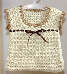 Baby vest, sweater, crochet pattern,