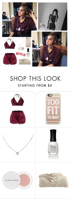 """— 🕷🤤"" by anons-are-my-thing ❤ liked on Polyvore featuring Casetify, Ice, Charlotte Russe, Herbivore and DKNY"