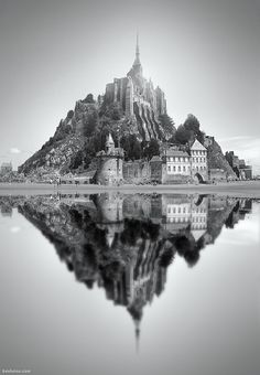 """""""Mont-Saint-Michel"""" (English: Saint Michael's Mount) is a rocky tidal island in Normandy, France. Mont Saint Michel France, Le Mont St Michel, Saint Michael, Oh The Places You'll Go, Places To Visit, St Michael's Mount, Normandy France, Kirchen, Belle Photo"""