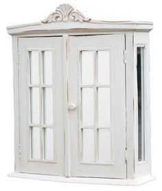 White washed Shabby Chic Bathroom Cabinet - use for potion cupboard
