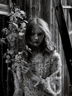 """Delicacy,"" featuring Sara Blomqvist, photographed by Patrick Demarchelier for Interview (June/July 2012)."