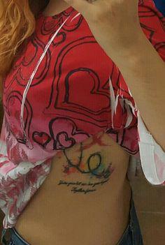 Water colour tattoo #wctattoo #watercolortattoo #tattoo #tattoogirl #javiwolf #art #tattooart
