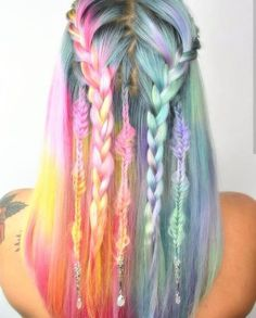 28 Rainbow hair colors ideas you need to see! Link is on bio! Enjoy!  . . . . . #grunge #softgrunge #palegrunge #hairgoals #haircolor #pastelgrunge #pastelhair #hairstyles #pastelgoth #rainbowhair