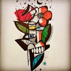 #stefanoarici #ink #inked #china #Black #blackwork #blackworkers #blackworker #graphic #graphisme #graphique #line #linework #dessin #dibujo #painting #paint #sketch #illustration #Brescia #draw #art #noir #nero #sketchbook #blackbook #disegno #artbrut #brutart #flashtattoo #flash #flashwork #cubism #avantgarde