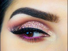 Huda Beauty Textured Rose gold Eyeshadow Tutorial - Sal_Qu - YouTube