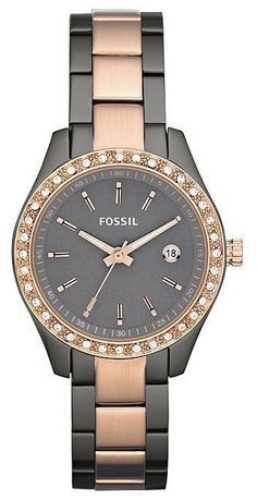 968b319e30 Fossil Watch - Rose Gold and Smoke Ion Ladies Watch