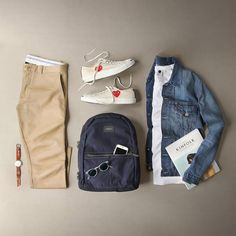 How To Wear Khaki Chinos For Men Outfit Ideas) - khaki chins outfits for men - Mens Fashion Blog, Best Mens Fashion, Fashion Guide, Fashion Sale, Fashion Outlet, Paris Fashion, Fashion Fashion, Runway Fashion, Fashion Trends