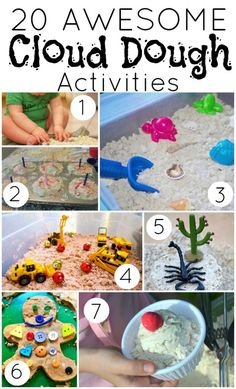 20 Awesome Cloud Dough Activities from www.mommy-mania.com