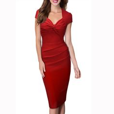 BEFORW Female Summer Sexy Solid Color Plus Size V-Neck Pencil Dress Big Yards Fashion Casual Retro Office Dresses Isn`t it awesome? Visit our store
