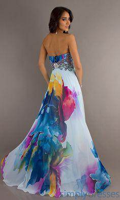Best 2013 A-line Empire Chiffon Floor-length Charmeuse Strapless Print Evening Prom/evening/maxi Dresses Jz-4800