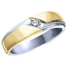 Ben Moss Jewellers Men S 0 15 Carat Canadian Diamond 10k Two Tone Gold Wedding Band 819 00