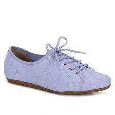 Sapato Oxford Feminino Moleca  - Lilas