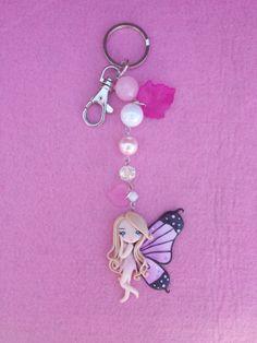Keychain Butterfly Fimo polymer clay por Artmary2 en Etsy, €12.00