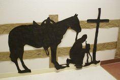 Praying Cowboy Silhouette