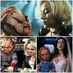 Jennifer Tilly in bride of chucky and seed of chucky.