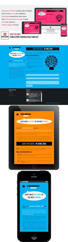 Save the Date – HTML5 Event Landing. HTML/CSS Themes. $3.00