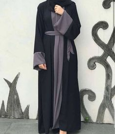 Black front open abaya Nida material Rate 2500 only Burka Fashion, Modest Fashion Hijab, Muslim Women Fashion, Islamic Fashion, Abaya Designs Latest, Mode Abaya, Hijab Fashionista, Hijab Fashion Inspiration, Hijabs