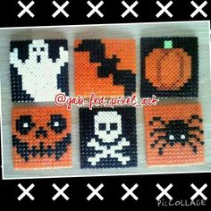 Halloween coasters hama beads by gab_fed_pixel_art
