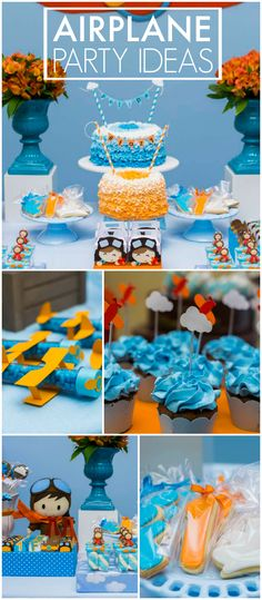 What an adorable airplane boy birthday!  See more party ideas at CatchMyParty.com!