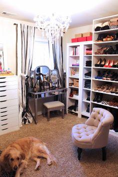 TiffanyD: Updated Closet And Makeup/Filming Area Tour! Schminkzimmer,  Schreibtisch Speicher,