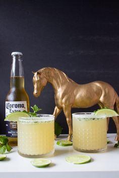 Mint Lime Beer Margarita