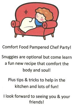 Warm up & snuggle up with some good food at your next Pampered Chef party  Check out my Facebook page. Then contact me to set up your party!    https://www.facebook.com/Kitchenfunwithalliev?ref=hl