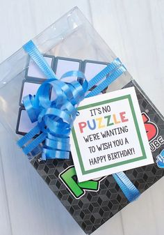 Are you looking for some fun birthday presents for kids? We have this awesome Rubiks Cube gift idea that is super simple and makes a really fun gift. #giftidea #birthday #birthdaygifts #kids