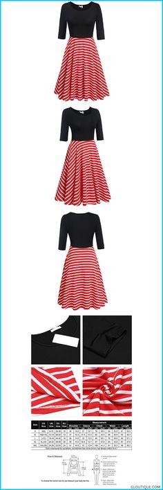 0fd40c06dc08c ELESOL Women s Flower Print Plus Size Casual Flare A-Line Dress
