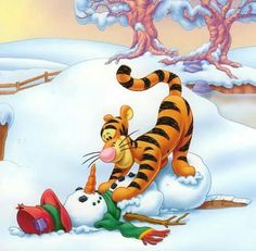 Christmas with tigger