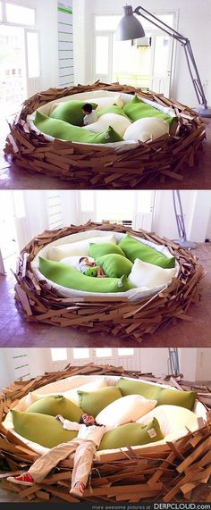 Awesome bird nest bed