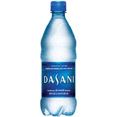 Dasani Water. If tap water is not available, I prefer to drink this.