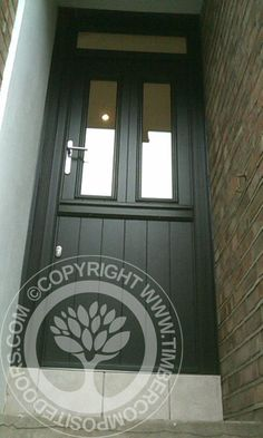 Solidor Ludlow Composite Stable Door in Black with matching frames Part of our Timber Core Composite Door Range from the Solidor Collection, you can design your perfect new front door online and get a quote and have it fitted anywhere in the UK. Black Composite Front Door, Composite Door, External Bifold Doors, Doors Online, Stables, Entrance, Composition, New Homes, Windows