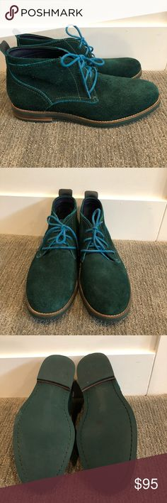 Cole Haan turquoise green suede chukkas Fantastic condition Cole Haan turquoise green suede chukka boots extremely rare. See pictures for details. Listing is for shoes only. No box or shoe trees included. Cole Haan Shoes Chukka Boots