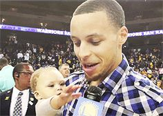 Her first ever mic grab. | 30 Of The Absolute Cutest Riley Curry Moments