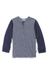 Splendid Contrast Sleeve Henley (Toddler Boys, Little Boys & Big Boys)