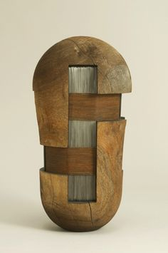 Untitled by American sculptor Todd Hoyer (b.1952). Mesquite, Steel. via…